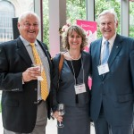 Chancellor Wilson mingles with Rotman Commerce alumni